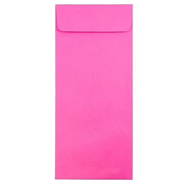 JAM Paper® #14 Policy Envelopes, 5 x 11.5, Brite Hue Ultra Fuchsia Pink, 50/pack (3156402I)