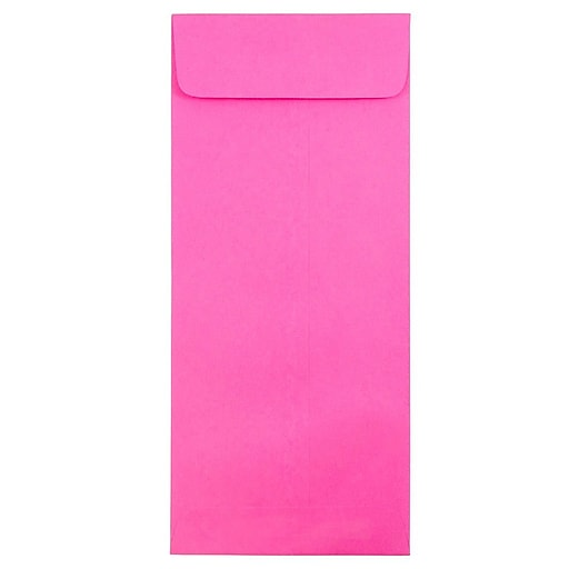 JAM Paper® #14 Policy Business Colored Envelopes, 5 x 11.5, Ultra Fuchsia Pink, Bulk 500/Box (3156402H)