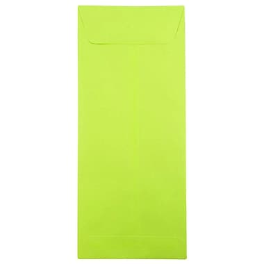 JAM Paper® #14 Policy Envelopes, 5 x 11.5, Brite Hue Lime Green, 25/pack (3156403)