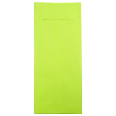 JAM Paper® #14 Policy Envelopes, 5 x 11.5, Brite Hue Lime Green, 50/pack (3156403I)