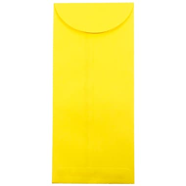 JAM Paper® #14 Policy Envelopes, 5 x 11.5, Brite Hue Yellow Recycled, 1000/carton (3156404B)