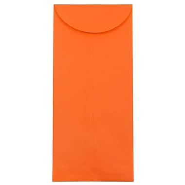 JAM Paper® #14 Policy Envelopes, 5 x 11.5, Brite Hue Orange Recycled, 25/pack (3156405)