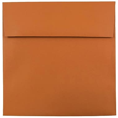 JAM Paper® 8.5 x 8.5 Square Envelopes, Dark Orange, 1000/carton (3157503B)