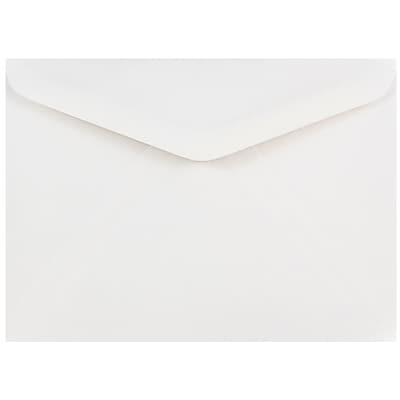 JAM Paper® A7 Invitation Envelopes, 5.25 x 7.25, White with V-Flap, 250/box (4023210H)