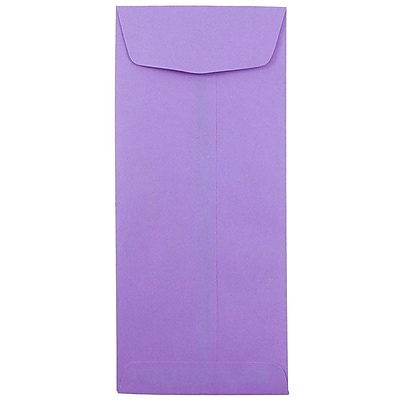 JAM Paper® #11 Policy Envelopes, 4 1/2 x 10 3/8, Brite Hue Violet Purple Recycled, 50/pack (4156909I)