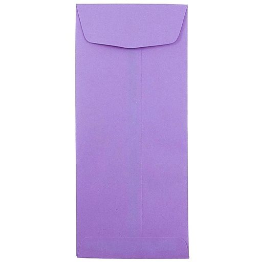 JAM Paper® #11 Policy Business Colored Envelopes, 4.5 x 10.375, Violet Purple Recycled, Bulk 500/Box (4156909H)