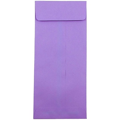 JAM Paper® #12 Policy Envelopes, 4.75 x 11, Brite Hue Violet Purple Recycled, 500/box (4156910H)
