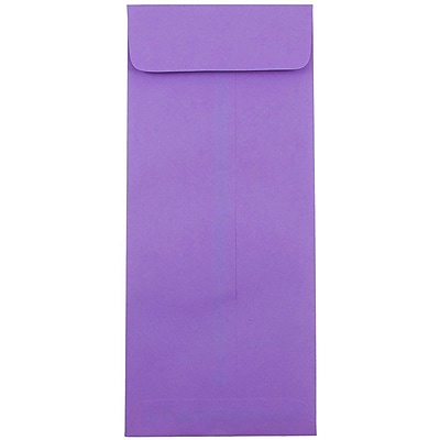 JAM Paper® #14 Policy Envelopes, 5 x 11.5, Brite Hue Violet Purple Recycled, 50/pack (4156911I)