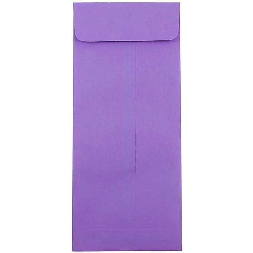 JAM Paper® #14 Policy Business Colored Envelopes, 5 x 11.5, Violet Purple Recycled, Bulk 500/Box (4156911H)