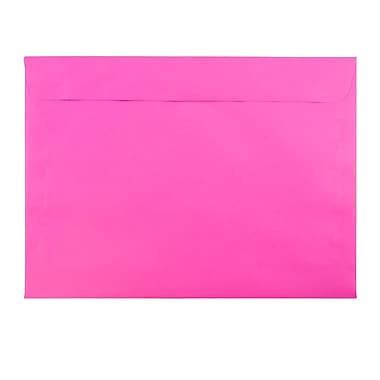 JAM Paper® 9 x 12 Booklet Envelopes, Brite Hue Ultra Fuchsia Pink, 25/pack (5156770)