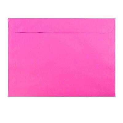 JAM Paper® 9 x 12 Booklet Envelopes, Brite Hue Ultra Fuchsia Pink, 25/pack (5156770)
