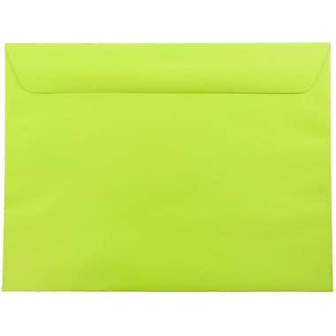 JAM Paper® 9 x 12 Booklet Envelopes, Brite Hue Ultra Lime Green, 1000/carton (5156771B)