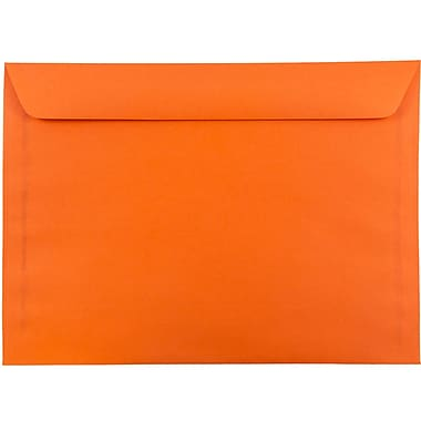 JAM Paper® 9 x 12 Booklet Envelopes, Brite Hue Orange Recycled, 25/pack (5156772)