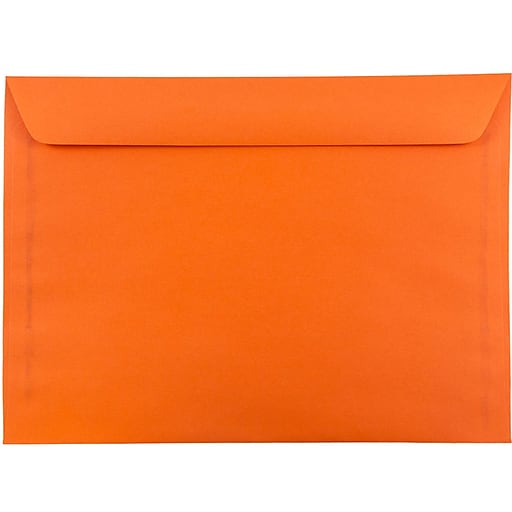 JAM Paper® 9 x 12 Booklet Catalog Colored Envelopes, Orange Recycled, 25/Pack (5156772)