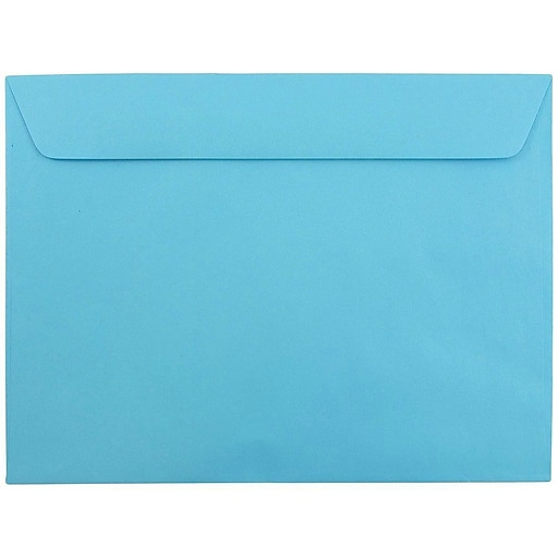 JAM Paper® 9 x 12 Booklet Catalog Colored Envelopes, Blue Recycled, 25/Pack (5156774)