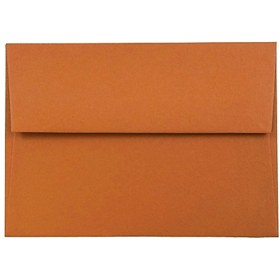 JAM Paper® 4bar A1 Envelopes, 3 5/8 x 5 1/8, Dark Orange, 250/box (5157436H)