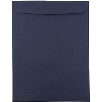 JAM Paper® 10 x 13 Open End Catalog Envelopes, Navy Blue, 100/pack (12828427B)