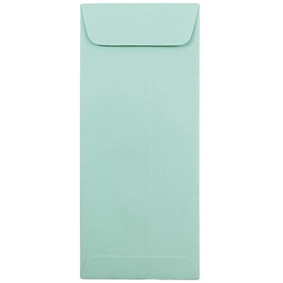 JAM Paper® #10 Policy Envelopes, 4 1/8 x 9 1/2, Aqua Blue, 500/box (21520986H)