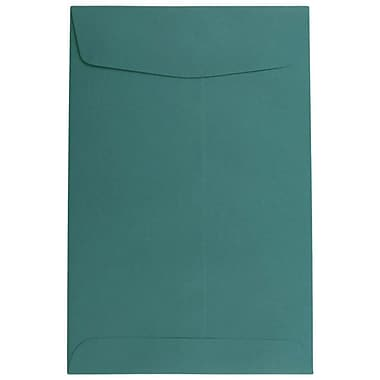 JAM Paper® 6 x 9 Open End Envelopes, Teal Blue, 10/pack (31287525C)