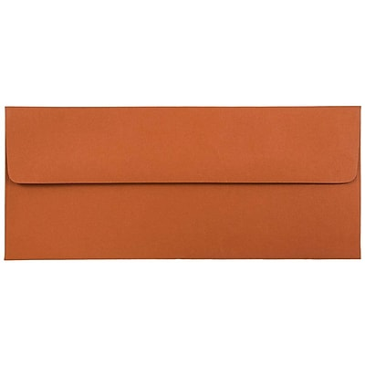 JAM Paper® #10 Business Envelopes, 4 1/8 x 9 1/2, Dark Orange, 1000/carton (31511350B)