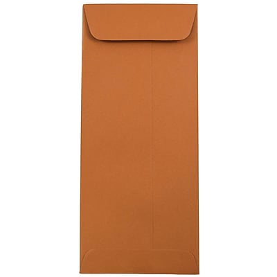 JAM Paper® #10 Policy Envelopes, 4 1/8 x 9 1/2, Dark Orange, 500/box (31511354H)