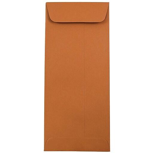 JAM Paper® #10 Policy Business Envelopes, 4.125 x 9.5, Dark Orange, 50/Pack (31511354I)