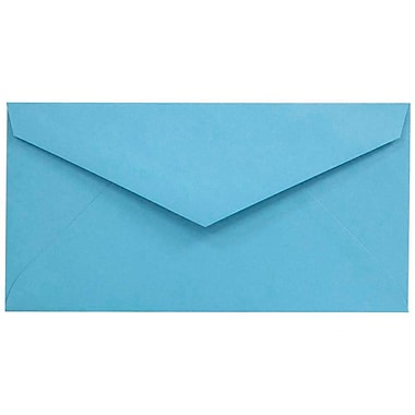JAM Paper® Monarch Envelopes, 3 7/8 x 7 1/2, Brite Hue Blue Recycled, 25/pack (34097574)