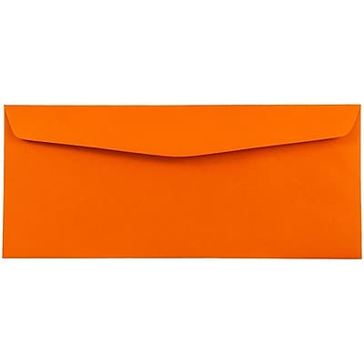 JAM Paper® Monarch Envelopes, 3 7/8 x 7 1/2, Brite Hue Orange Recycled, 50/pack (34097575I)