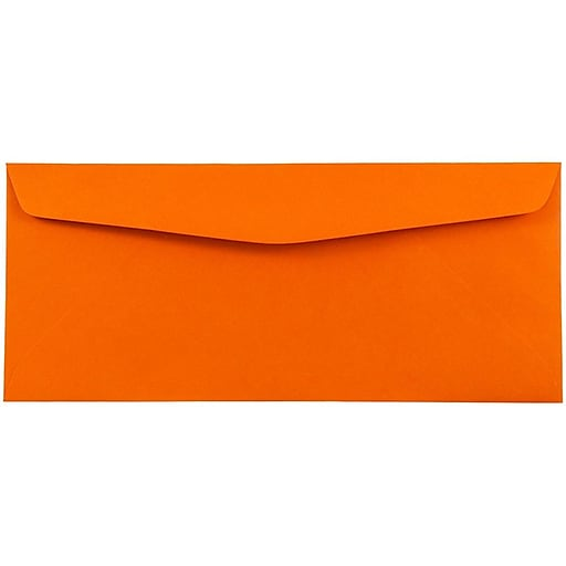 JAM Paper® Monarch Colored Envelopes, 3.875 x 7.5, Orange Recycled, 50/Pack (34097575I)