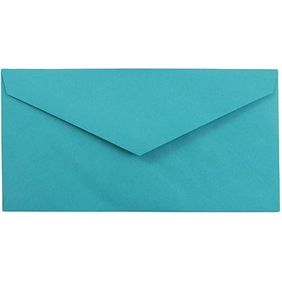 JAM Paper® Monarch Envelopes, 3 7/8 x 7 1/2, Brite Hue Sea Blue Recycled, 1000/carton (34097576B)