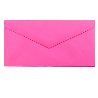 JAM Paper® Monarch Envelopes, 3 7/8 x 7 1/2, Brite Hue Ultra Fuchsia Pink, 500/box (34097578H)
