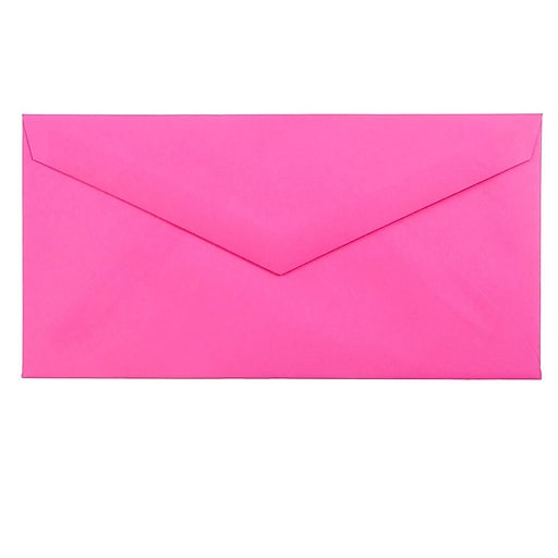 JAM Paper® Monarch Colored Envelopes, 3.875 x 7.5, Ultra Fuchsia Pink, 50/Pack (34097578I)