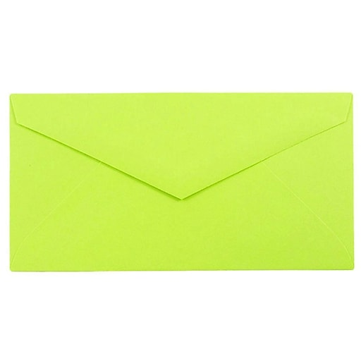 JAM Paper® Monarch Envelopes, 3.875 x 7.5, Ultra Lime Green, 25/Pack (34097579)