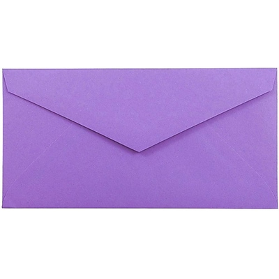 JAM Paper® Monarch Envelopes, 3 7/8 x 7 1/2, Violet Purple Recycled, 50/pack (34097581I)