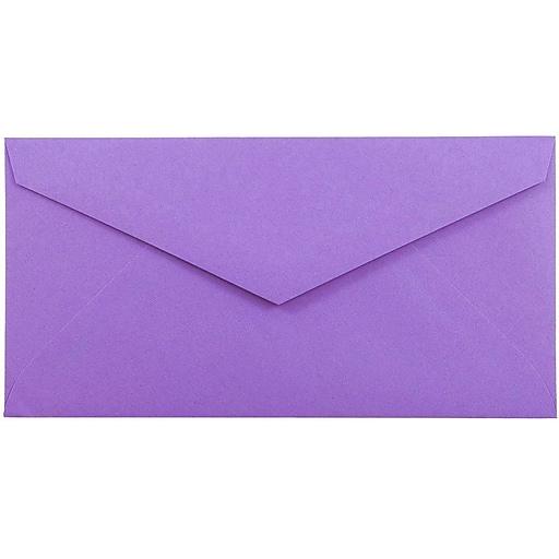 JAM Paper® Monarch Envelopes, 3.875 x 7.5, Violet Purple Recycled, 25/Pack (34097581)