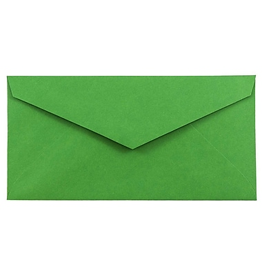 JAM Paper® Monarch Envelopes, 3.88 x 7.5, Brite Hue Green Recycled, 100/Pack (34097582g)