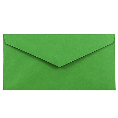 JAM Paper® Monarch Envelopes, 3 7/8 x 7 1/2, Brite Hue Green Recycled, 500/box (34097582H)