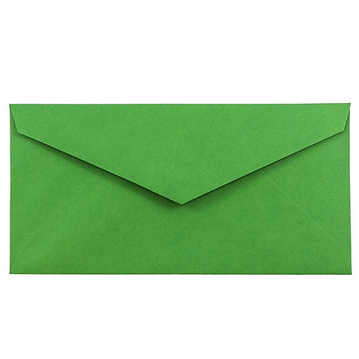 JAM Paper® Monarch Envelopes, 3.875 x 7.5, Green Recycled, Bulk 500/Box (34097582H)