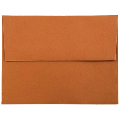 JAM Paper® A2 Invitation Envelopes, 4 3/8 x 5 3/4, Dark Orange, 25/pack (61511358)