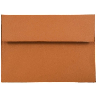 JAM Paper® A7 Invitation Envelopes, 5.25 x 7.25, Dark Orange, 1000/carton (61511360B)