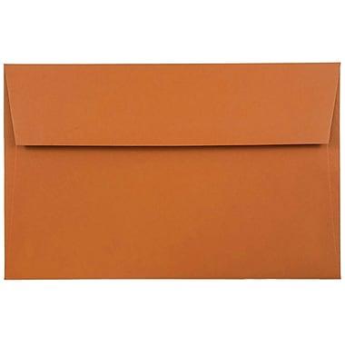 JAM Paper® A8 Invitation Envelopes, 5.5 x 8.125, Dark Orange, 1000/carton (61511362B)