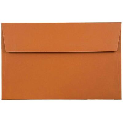 JAM Paper® A8 Invitation Envelopes, 5.5 x 8.125, Dark Orange, 50/pack (61511362I)
