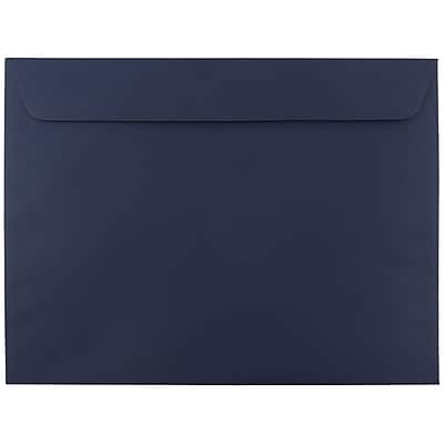 JAM Paper® 9 1/2 x 12 5/8 Booklet Envelopes, Navy Blue, 1000/carton (63928407C)