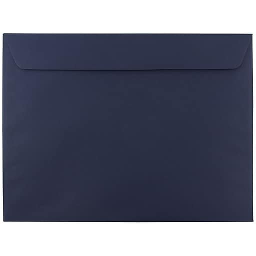 JAM Paper® 9.5 x 12.625 Booklet Envelopes, Navy Blue, 25/Pack (63928407)