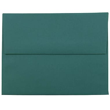 JAM Paper® A2 Invitation Envelopes, 4 3/8 x 5 3/4, Teal Blue, 25/pack (124823544)
