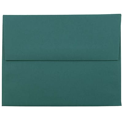 JAM Paper® A2 Invitation Envelopes, 4 3/8 x 5 3/4, Teal Blue, 250/box (124823544H)