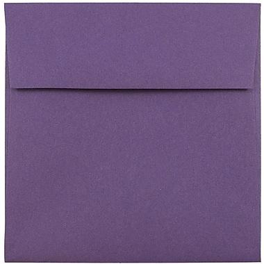 JAM Paper® 5.5 x 5.5 Square Envelopes, Dark Purple, 25/pack (263914942)
