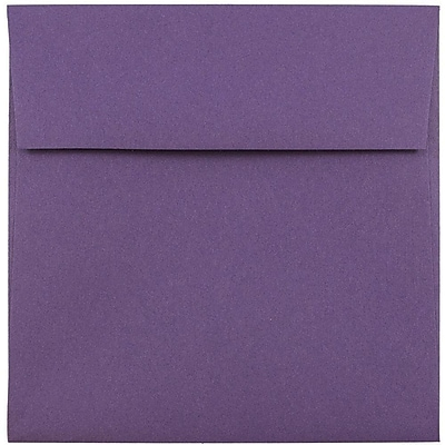 JAM Paper® 5.5 x 5.5 Square Envelopes, Dark Purple, 25/pack (263914942)