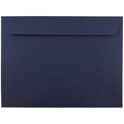 JAM Paper® 9 x 12 Booklet Envelopes, Navy Blue, 1000/carton (263916011B)