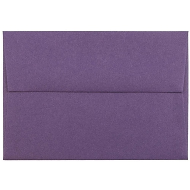 JAM Paper® 4bar A1 Envelopes, 3 5/8 x 5 1/8, Dark Purple, 25/pack (563912502)